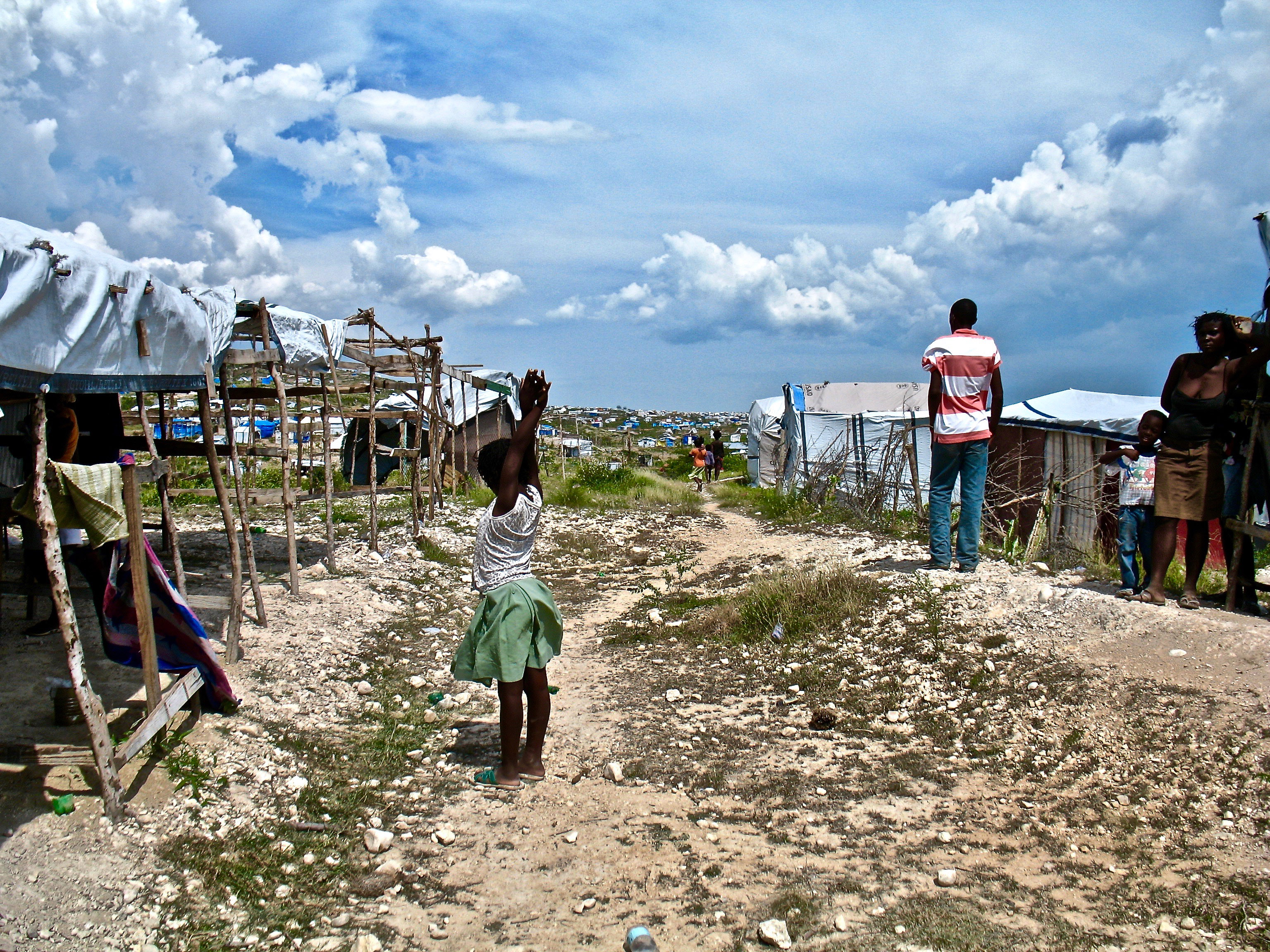 Refugee camps in the aftermath of the earthquake in Haiti.