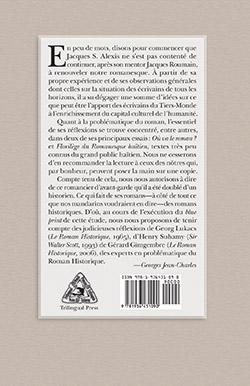 La quatrième de couverture de Jacques Stéphen Alexis: Romancier d'avant-garde de Compère Général Soleil.