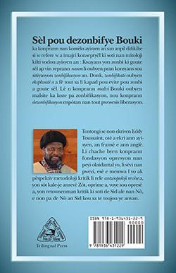 Le quatrième de couverture de Sèl pou dezonbifye Bouki.